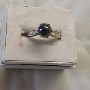 sterling bl. pearl ring